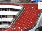 Na b�eck� trati v z�kladn� �kole v Tchien-tchaj jsou t�i ochrann� vrstvy.