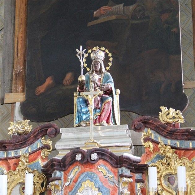 Vzácný oltá� v kostele sv. Jiljí pod hradem Bezd�z.