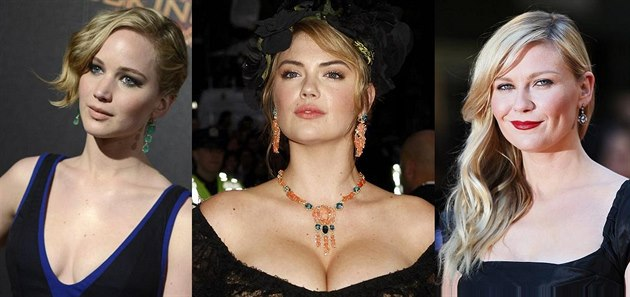 Jennifer Lawrence, Kate Uptonová a Kirsten Dunstová