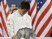 PORAŽENÝ FINALISTA. Japonský tenista Kei Nišikori byl po prohraném finále US...