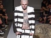 Model Rick Genest na přehlídce Jakub Polanka, kolekce jaro - léto 2015