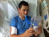 Handicapovaný cyklista Jiří Ježek se v americkém Greenville zotavuje z pádu na