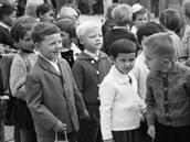 Zahájení �kolního roku 1964 v Hradci Králové v dobách socialismu.