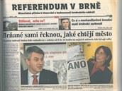 Titulní strana zvláštní přílohy MF DNES, která vyšla před deseti lety, když se...