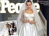 �asopis People získal exkluzivn� snímky ze svatby Angeliny Jolie a Brada Pitta.