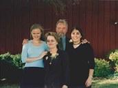Lenka Kavalířová (vlevo) se svou americkou rodinou.