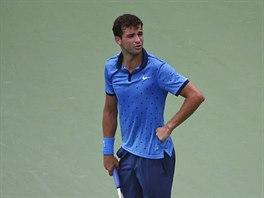 Buhlarskému tenistovi Grigoru Dimitrovovi se osmifinále US Open nepovedlo.
