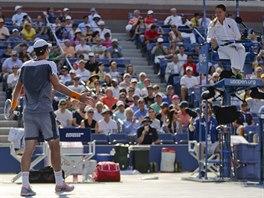 H�DKA. �esk� tenista Tom� Berdych nedok�zal p�ijmout verdikt umpirov�...