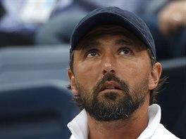 Goran Ivani�evi� sleduje sv�ho sv��ence Marina �ili�e ve fin�le US Open.