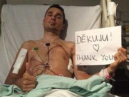 DĚKUJU ZA PODPORU! Handicapovaný cyklista Jiří Ježek se v americkém Greenville zotavuje z krutého pádu.