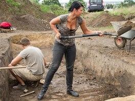 Studentka archeologie Jana Hejny�ov� za�ala na v�zkumu pracovat u� v b�eznu. Na...