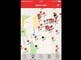 Aplikace Wifi�, syst�m iOS