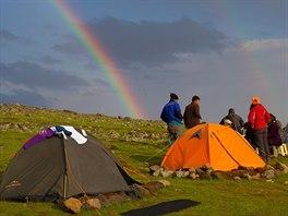 Zvraty počasí bývají na Araratu časté a rychlé. Mnohdy se ale po dešti objeví...