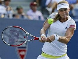 Jekatěrina Makarovová během semifinále US Open