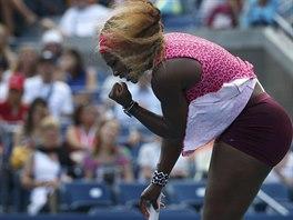 Serena Williamsová slaví vyhraný fiftýn v semifinále US Open