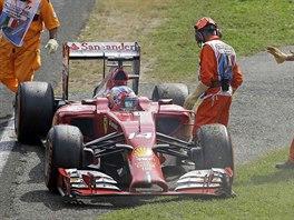 SORRY, KONČÍM. Fernando Alonso musel z VC Itálie odstoupit kvůli technické...
