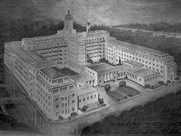 Mezinárodní nemocnice sv. Lukáše v Cukidži (akvarel, repro St. Luke's...