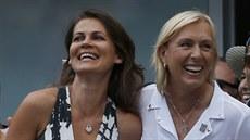ZASNOUBENY. Legend�rn� tenistka Martina Navr�tilov� p�i US Open po��dala o ruku...