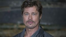 Brad Pitt na promo akci k filmu Fury (Bovington, 28. srpna 2014)