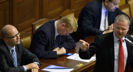 P�edseda ODS Petr Fiala ve sn�movn�