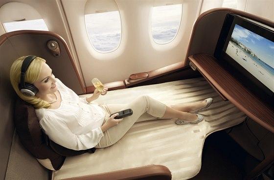Dop�ejte si b�hem letu ten nejvy��� komfort