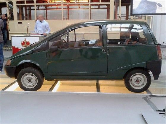 Prototyp Beskid vycházející z polského Fiatu 126p. Národní a technické muzeum...
