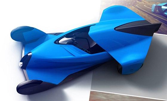 Studie sportovního vozu Bugatti od německého studenta Henryho von Freyberga