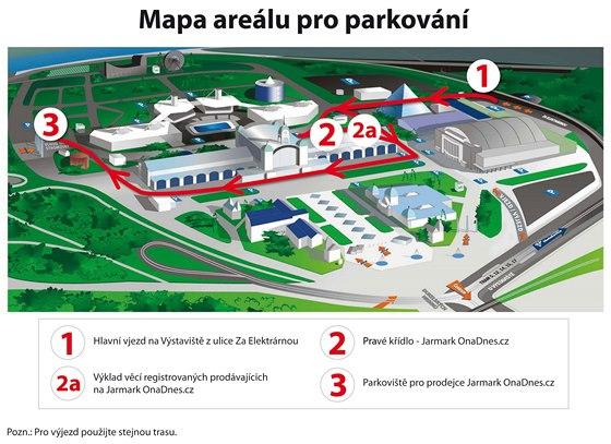 Mapa areálu Incheba Výstaviště Holešovice Praha