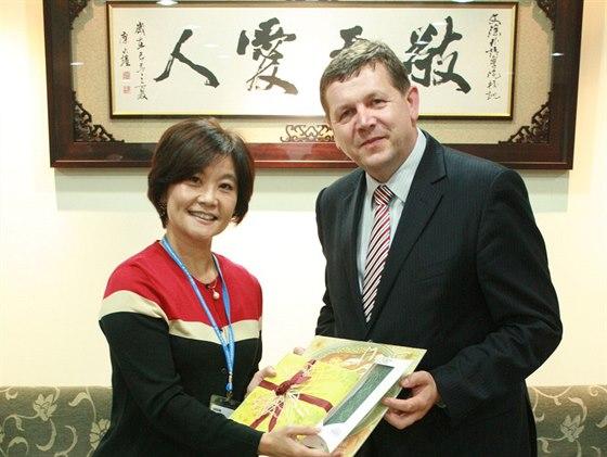 Náměstkyně Ministerstva školství Čínské republiky Tchaj-wan Lucia S. Lin s...