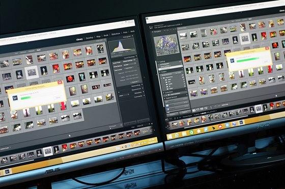 Přípravy koláže v Photoshop Lightroom zvládl systém s Core M podstatně...