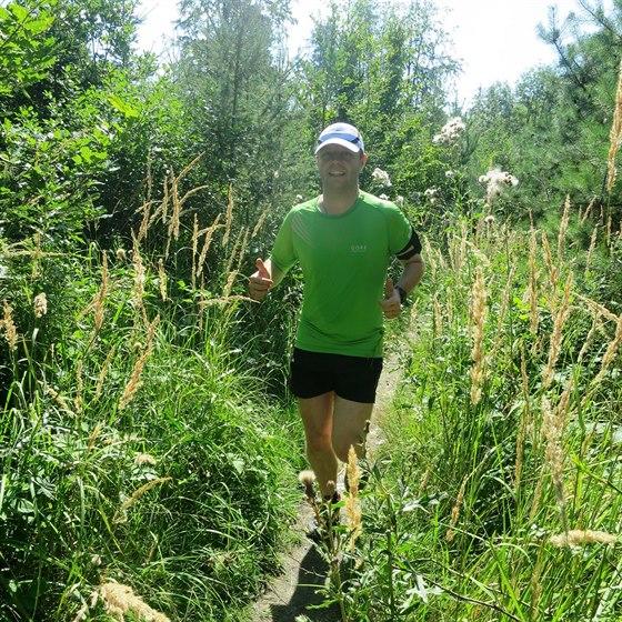 Hned v počátcích svého běhání jsem začal dokonale splývat s přírodou (rok 2013)