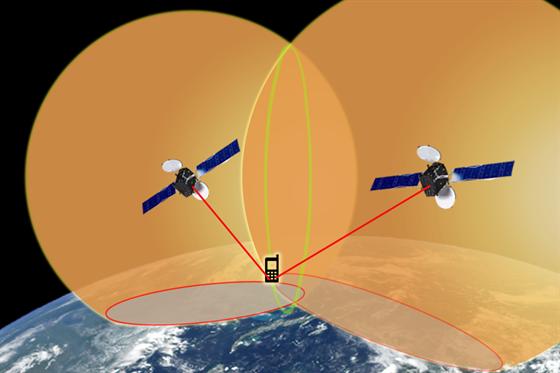 Druhá družice pomůže upřesnit čas a také omezí možnost, kde se přijímač...