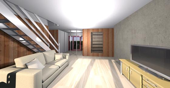 Vizualizace interiéru domu