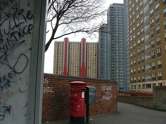 Sídliště Red Road, teskné a prázdné město duchů, které způsobuje v Glasgow...