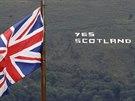Heslo podporující nezávislost Skotska se objevilo i severoirském Belfastu  (8....