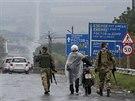 Ukrajinští vojáci ve městě Debalceve (9. září 2014)