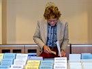 Volební místnost ve švédském Göteborgu (14. září 2014)