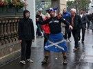 Zklamaný stoupenec samostatného Skotska v Edinburghu (19. září 2014)