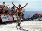 A JE TO. Alberto Contador v c�li dvac�t� etapy Vuelty.
