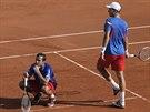 Čeští tenisté Radek Štěpánek (vlevo) a Tomáš Berdych prohráli čtyřhru v...
