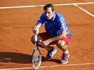 NEŠLO TO. Český tenista Radek Štěpánek byl při čtyřhře v daviscupovém semifinále proti Francii limitován bolavými zády.