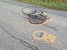 Osobní auto u Čelákovic srazilo v husté mlze dva cyklisty, oba zemřeli...