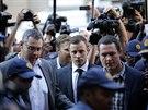 Pistorius dorazil do budovy nejvyššího soudu v Pretorii krátce před devátou...