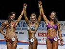 Bodyfitness modelka Ria Hrušovská si ze soutěže veze medaili.