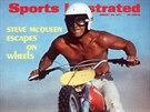 Steeve McQueen na Husqvarně na obálce Sports Ilustated.