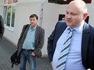 Autem si hejtman Michal Hašek (vpravo) vyrazil v minulých dnech třeba na oběd....