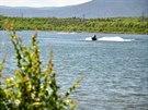 Jezero Matylda na severozápadním okraji Mostu vzniklo zatopením bývalého lomu...