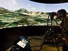 Část výcviku se konala na panoramatickém simulátoru.