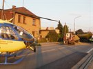 Vážná dopravní nehoda v ulici T. G. Masaryka v Ostroměři na Jičínsku. (17. 9....