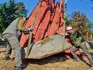 Model termiti�t� ve výb�hu nosoro�c� v královédvorské zoologické zahrad�.